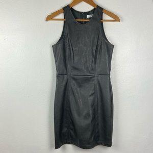 JustFab faux leather  Black mini cocktail dress